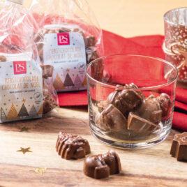 Nieuw! Kerstchocolaatjes melk praliné